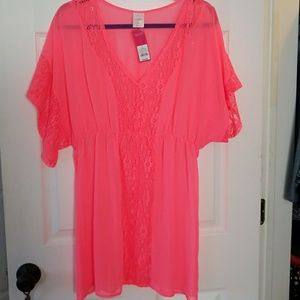 NWT Hot Pink Cover-up